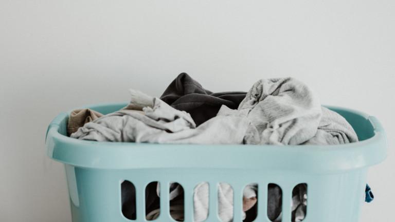 Pyykkiä korissa