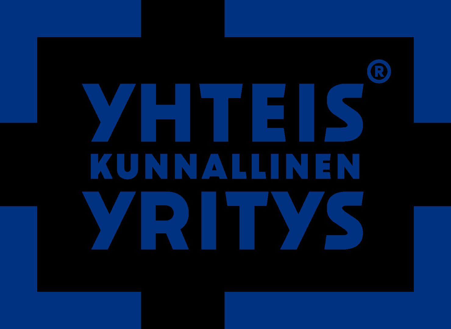 Sinivalkoinen logo, jossa lukee Yhteiskunnallinen Yritys.